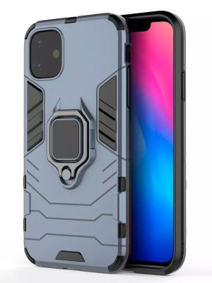 oneo ARMOUR Grip iPhone 11R Protective Case - Navy Blue